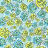 Abstract vector naadloos patroon met flloral Royalty-vrije Stock Foto's
