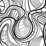 Abstract vector naadloos patroon met golvende krullende lijnen Royalty-vrije Stock Foto's