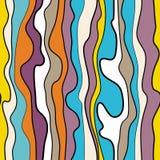 Abstract vector naadloos patroon met golvende krullende lijnen Abstract grafisch ornament Gestreepte het herhalen textuur Stock Fotografie