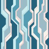 Abstract vector naadloos patroon met lijnen Stock Foto's