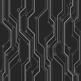 Abstract vector naadloos patroon met lijnen en cirkels Stock Fotografie