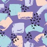 Abstract vector naadloos patroon op een purpere achtergrond Royalty-vrije Stock Afbeelding