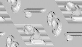 Abstract vector numbers seamless isometric moire pattern with li. Nes royalty free illustration