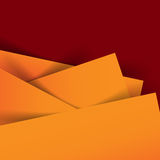 Abstract vector orange and dark red  background overlap layer an. D shadow - vector illustration eps10 Royalty Free Stock Photography