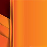 Abstract vector orange and dark red  background overlap layer an Stock Image