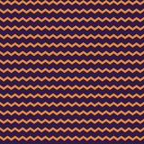 Abstract vector orange zig zag seamless pattern on the purple background. Royalty Free Stock Image