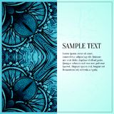 Abstract vector ornament. Blue greeting card Royalty Free Stock Image