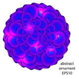 Abstract vector ornamental emblem royalty free stock image