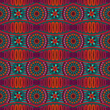 Abstract vector ornamental ethnic seamless pattern Stock Image