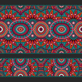 Abstract vector ornamental ethnic seamless stripes Stock Photo