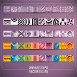 Abstract vector ornamental stripes Royalty Free Stock Photo