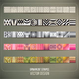 Abstract vector ornamental stripes Royalty Free Stock Photos