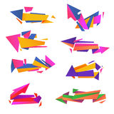 Abstract vector pack of modern colorful arrows Stock Photo