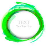 Abstract vector painting design element. Green. Stock Photography