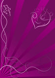 Abstract Vector Pan Background. An abstract purple background with grapes and pan Stock Images
