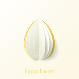 Abstract vector paper Easter egg background Stock Photos