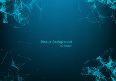 Abstract vector particles and lines. Plexus effect. Futuristic illustration. Polygonal Cyber Structure. Data Connection Concept. Background Polygonal Cyber stock illustration