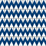 Abstract vector pattern background with blue color zig-zag lines in retro style. Stock Images