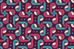 Colorful seamless geometric pattern Royalty Free Stock Photos