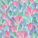 Abstract Vector Pattern with Leaves in Pastel Colors vector illustration