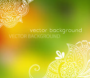 Abstract vector pattern of a tattoo henna Royalty Free Stock Photos
