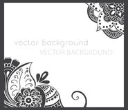 Abstract vector pattern of a tattoo henna Royalty Free Stock Images