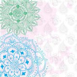Abstract vector pattern of a tattoo henna Stock Photo