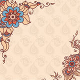 Abstract vector pattern of a tattoo henna Stock Photography
