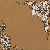 Abstract vector pattern of a tattoo henna Royalty Free Stock Photography