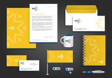 Abstract vector people social corporate identity Royalty Free Stock Photo
