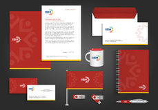 Abstract vector people social corporate identity Stock Photos