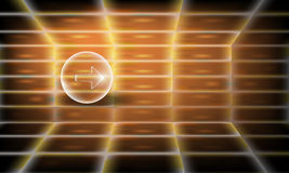 Abstract vector perspective background with transparent b Royalty Free Stock Image