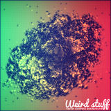 Abstract vector point mesh background. Abstract Royalty Free Stock Photography