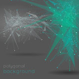 Abstract vector polygonal background Stock Photos