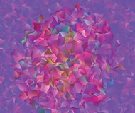 Abstract vector  polygonal  background. Low poly triangular pattern. The best graphic resourse for your design works. Modern abstract colorful background with a Royalty Free Stock Photos