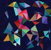 Abstract vector  polygonal  background. Low poly triangular pattern. The best graphic resourse for your design works. Modern abstract colorful background with a Royalty Free Stock Images
