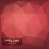 Abstract vector polygonal background. Marsala Royalty Free Stock Images