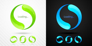 Abstract vector preloader Royalty Free Stock Images
