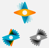 Abstract vector propeller or star logo icon. Royalty Free Stock Photo