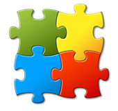 Abstract vector puzzle background Royalty Free Stock Images