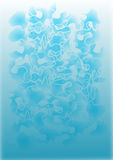 Abstract vector puzzle background. In blue vector illustration