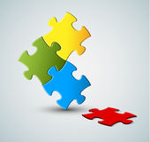 Abstract vector puzzle / solution background Stock Image