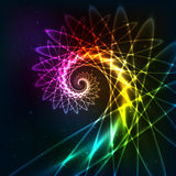 Abstract vector rainbow fractal spiral background Royalty Free Stock Images