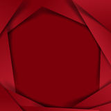 Abstract vector  red background overlap layer and shadow - vecto Stock Photography