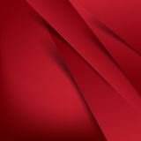 Abstract vector red background overlap layer and shadow - vector Royalty Free Stock Images