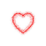 Abstract vector red heart. Isolated on white. Abstract red heart. Isolated on white. Vector illustration Stock Image