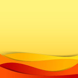 Abstract vector  red orange yellow background overlap layer and Royalty Free Stock Photography