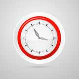 Abstract Vector Red and White Clock Stock Image