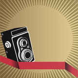 Abstract vector retro background with the old came Royalty Free Stock Image