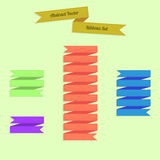 Abstract Vector Ribbons Set Royalty Free Stock Photos